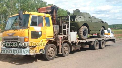 Перевозка военной техники манипулятором в Москве и МО