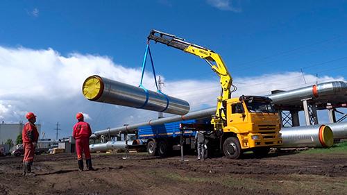Перевозка труб и металла манипулятором в Москве и МО