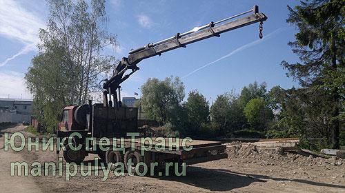 Аренда крана-манипулятора Tatra в Москве и МО