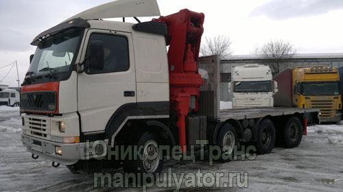 Аренда крана-манипулятора Volvo в Москве и МО