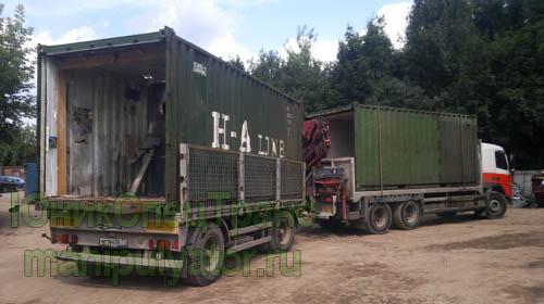 Перевозка контейнеров манипулятором в Москве и МО