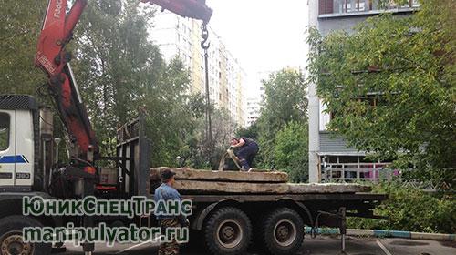 Перевозка бетонных плит манипулятором в Москве и МО