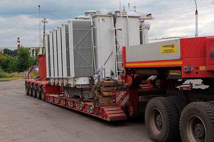 Перевозка трансформаторов манипулятором в Москве