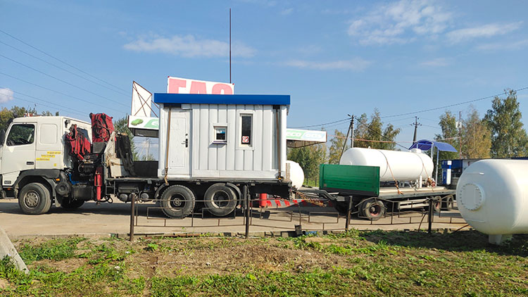 Аренда манипулятора для перевозки бытовок в Москве и МО