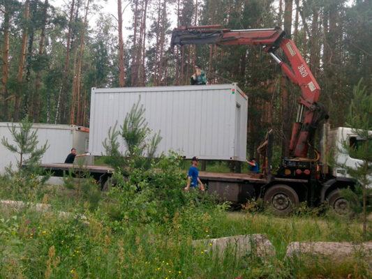 """Манипулятор-эвакуатор Volvo: стрела 9 т, 20 м, в форме буквы """"П"""""""
