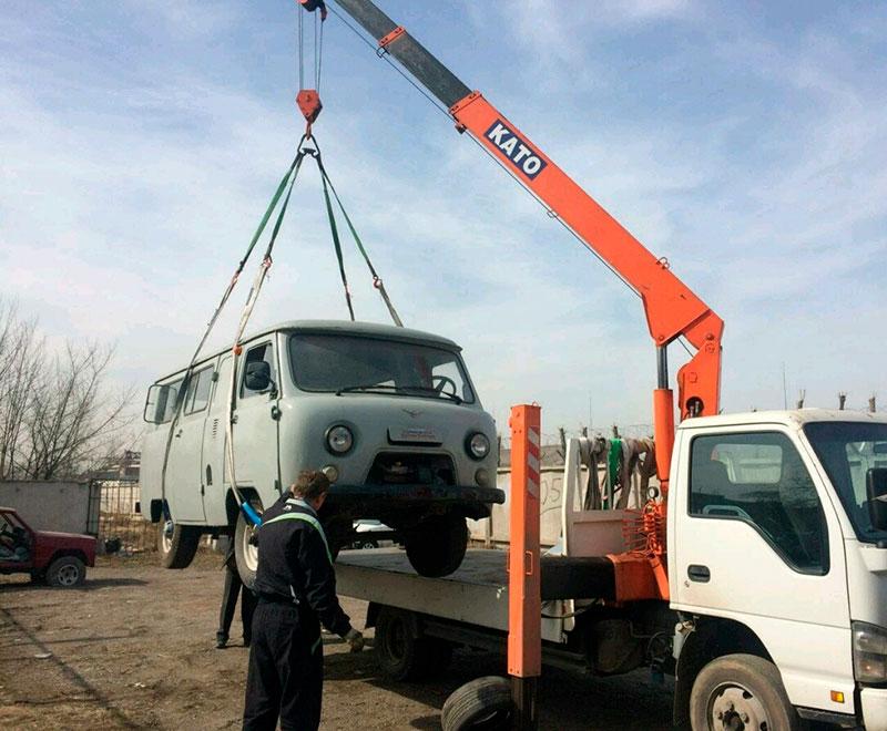 Перевозка манипулятором грузовых авто в Москве и МО